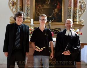 Thomaskantor Georg Chr. Biller, Arthur Engel und Pfarrer Andreas Illgen
