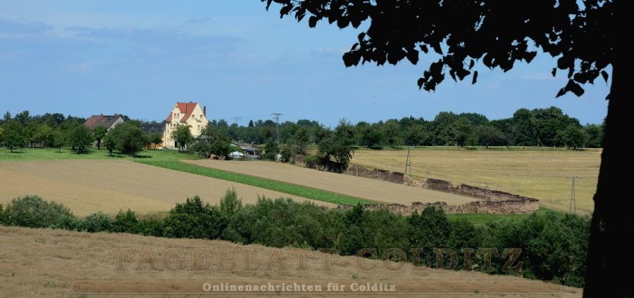 Reste der Tiergartenmauer mit dem Zschirlaer Tor