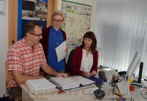 Das Allianz-Team Peter Radke, Cathleen Martin-Pfefferkorn und Dagmar Häber