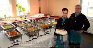 Das Brunchbuffet mit Küchenchef Roland Kretzer und Tim