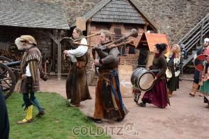 Die Spielleute mit historischen Instrumenten