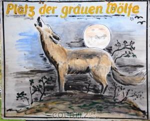 Ein Kunstwerk von Schnucke - einem der Grauen Wölfe