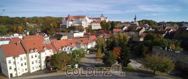 Blick über die Altstadt zum Schloss