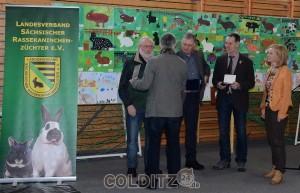 Auszeichnung der 3 Besten (von li. nach re.) Wolfgang Franke, Michael Dathe, Matthias Schirmer
