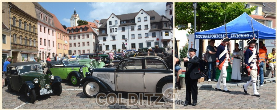 Die 6- August Horch Klassik macht Station in Colditz
