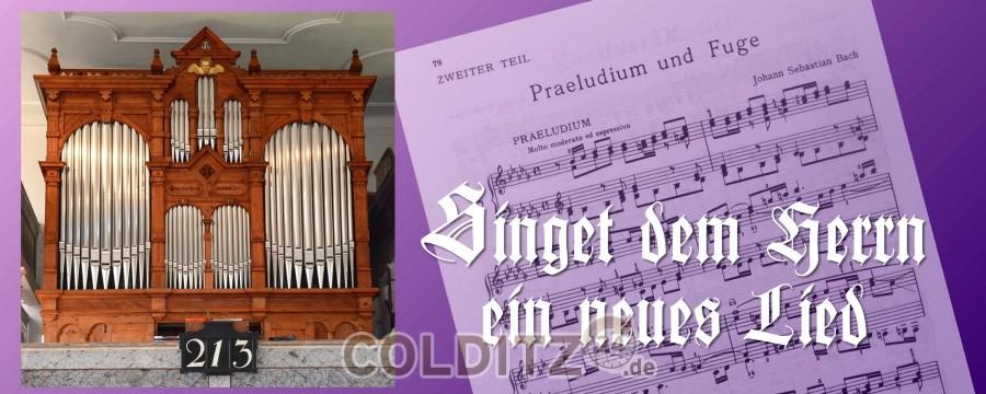 Wiedereinweihung der restaurierten Ladegast-Orgel in Erlbach