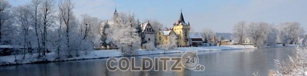 Schloss Podelwitz im Winter