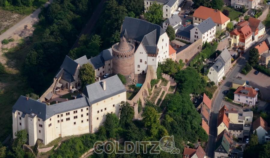 Burg Mildenstein aus der Luft