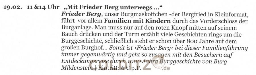 Mit Frieder Berg unterwegs...