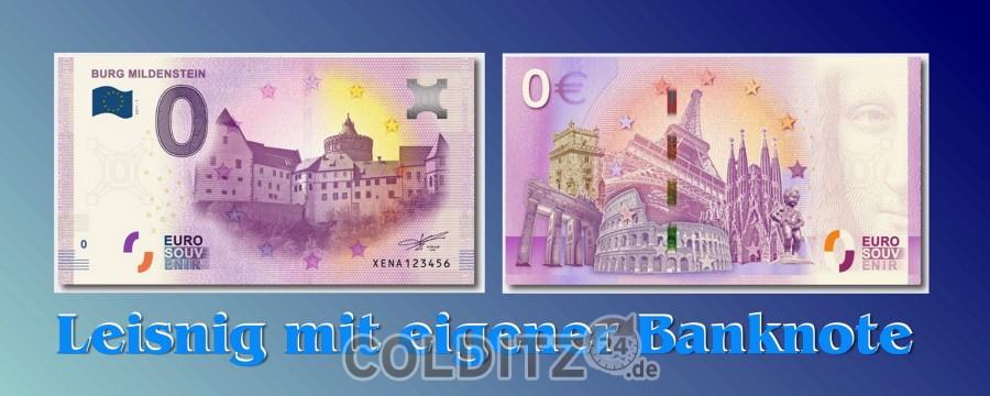 Banknote mit der Burg Mildenstein