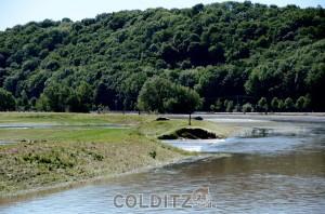 2 Dammbrüche in unmittelbarar Nähe des Sermuther Sportplatzes