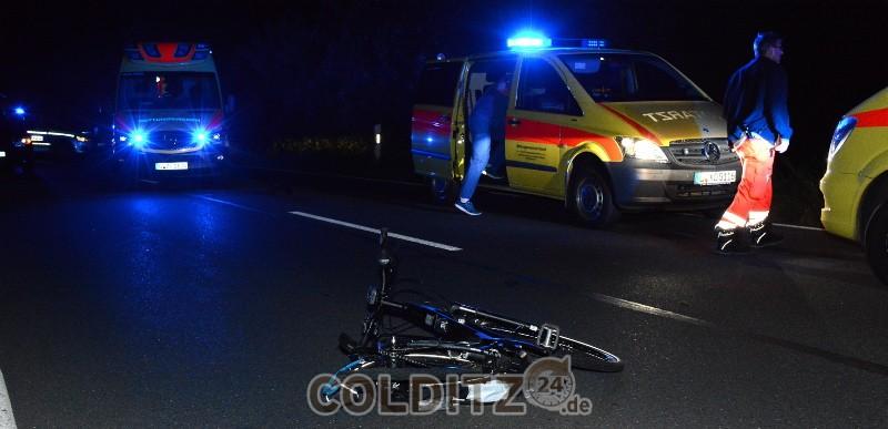 Die Unfallstelle mit dem E-Bike