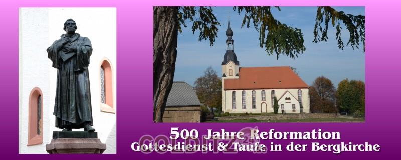 Gottesdienst zur Reformation in Schönbach