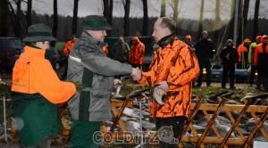 Alle erfolgreichen Jäger wurden weidmännisch traditionell geehrt