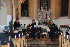 Die Solisten - Barbara Schneider (Sopran), Annett Bassow (Querflöte) und Mark Zocher (Orgel)