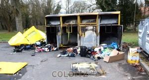 Vernichtete Kleidersammlung