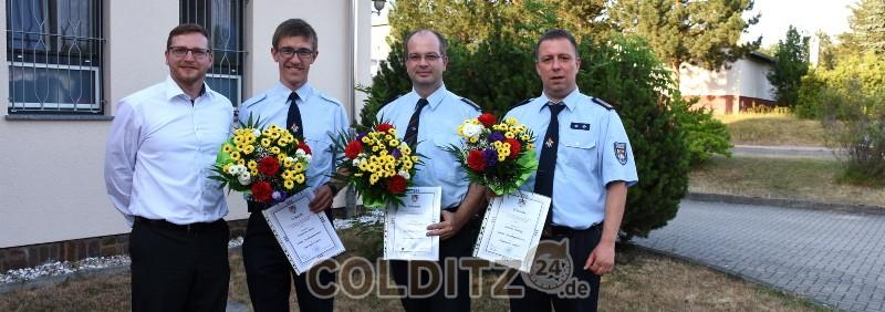 Neue Stadtwehrleitung der FFW Colditz