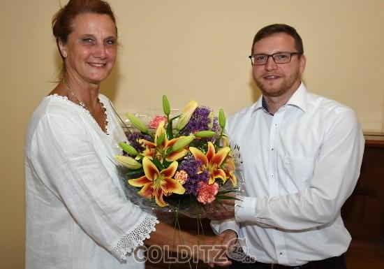 Amtsübernahme des neuen Bürgermeisters Robert Zillmann - Glückwunsch von SRin C. Hippe-Kasten