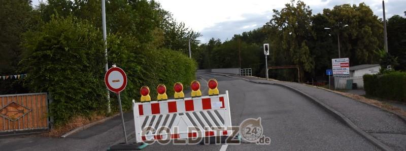 Porzellanwerkbrücke - bleibt gesperrt