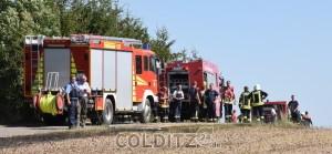 Mehrere Feuerwehren angerückt...