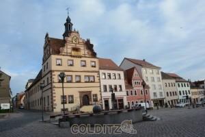 Colditzer Markt mit Rathaus