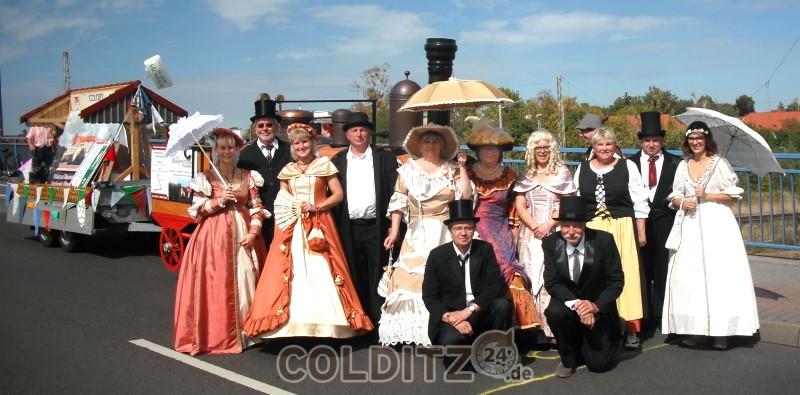 Das Team der kostümierten Begleiter (Foto: IG Colditz)