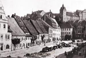Früheres Markttreiben in Colditz