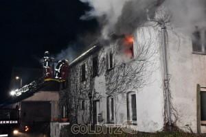 Brandbekämpfung über die Drehleiter