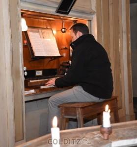Mark Zocher an der Orgel
