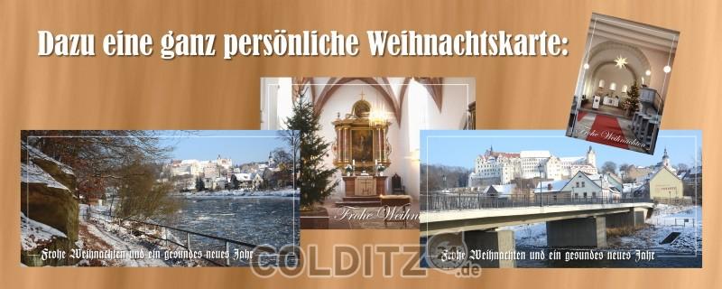 Eine Auswahl an Colditzer Weihnachtskarten