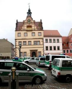 Erhöhte Polizeipräsenz in Colditz