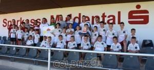 Alle teilnehmenden Kinder und das Team um René Tretschok