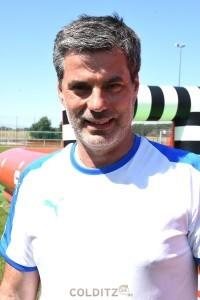 Ex-Bundesliga-Profi René Tretschok, der Pate des Camps