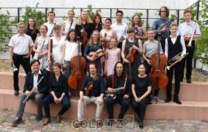 Die Kammermusiker mit den Dozenten Robert Würz (Jazzsaxophon), Vera Geyer (Jazzgesang), Jiri Berger (Flöte) Michael Spiecker (Geige) und Ning Xu-Spiecker (Akkordeon)