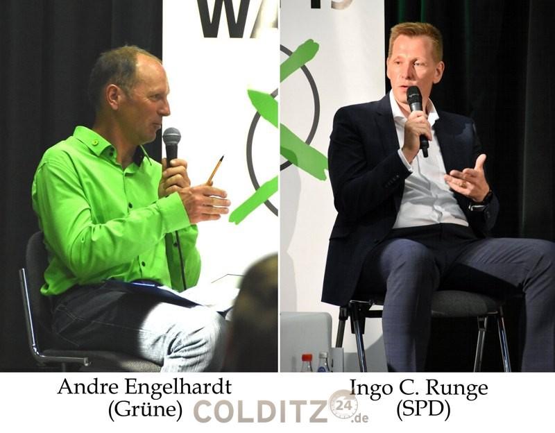 Vertreter der Grünen und der SPD