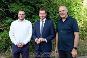 BM Zillmann, MP Kretschmer und LTA Kirmes in Colditz