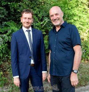 Vor Kurzem mit Sachsens Ministerpräsident Kretschmer in Colditz