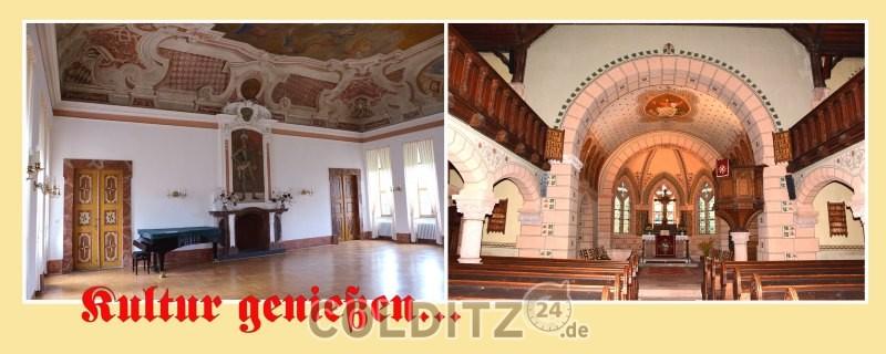 Kirche Schwarzbach und Jagdhaus Kössern