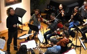Mit Dirigent Wolfgang Hentrich...