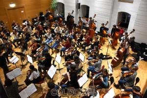 70 junge Musiker bieten  ein hervorragendes Konzert