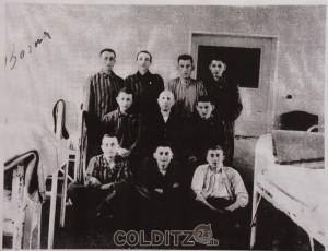 Häftlinge im KH Borna (o.re.-Rubin, u.mi. - Wilhelm Samelson)