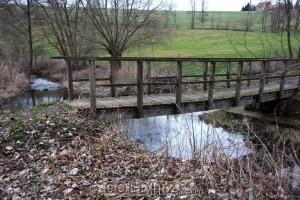 Eine der Brücken über den Auenbach..