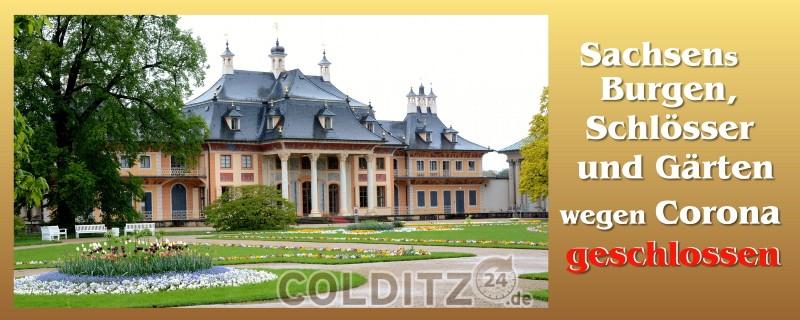 Sachsen schließt Burgen, Schlösser und Gärten