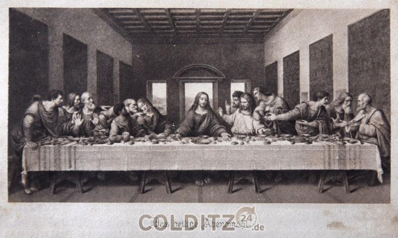 Das Heilige Abendmahl - aus einem Gesangbuch von 1883