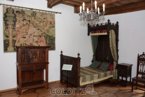 Historisches Zimmer auf Burg Kriebstein