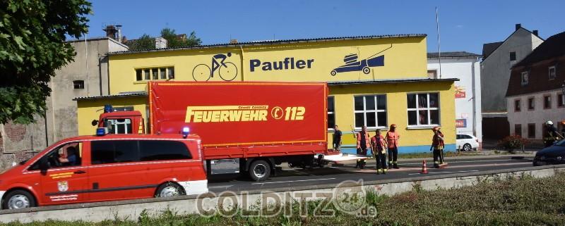 Colditzer FFW muss Ölspur beseitigen