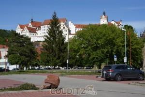 Ein Blickfang für alle Vorbeifahrenden - das Colditzer Schloss