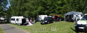 Auf dem Colditzer Campingplatz...