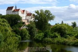 Wir verlassen Colditz - hinter uns das Schloss