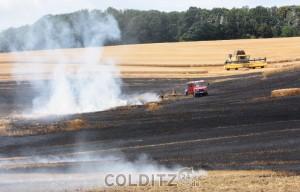 Fächenbrand auf dem Getreidefeld